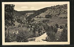 Ansichtskarte Klingenthal, Gesamtansicht mit Aschberg