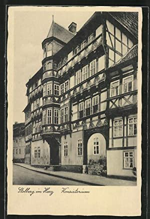 Ansichtskarte Stolberg, Fassade von Konsistorium