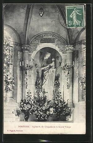 Carte postale Pontoise, Église N.-D. Chapelle de