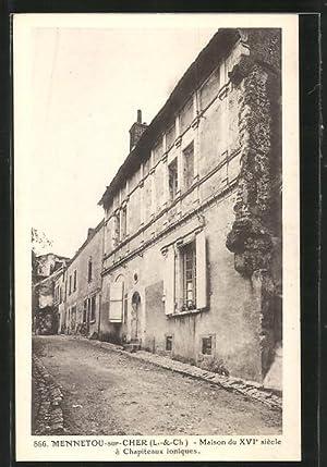 Carte postale Mennetou-sur-Cher, Maison du XVIe siecle