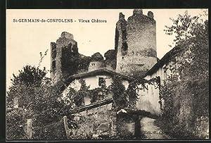 Carte postale St-Germain-de-Confolens, Vieux Chateau