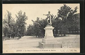Carte postale Autun, La Statue de Devitiac
