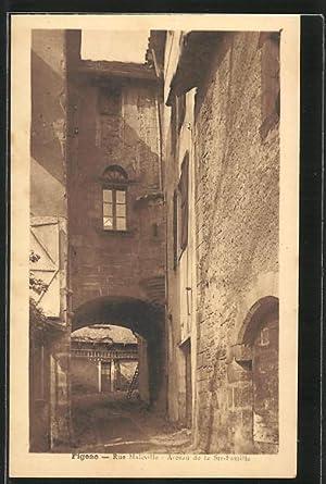 Carte postale Figeac, Rue Maleville, Arceau de