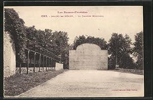 Carte postale Salies-de-Bearn, Le Fronton Municipal