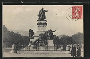 Carte postale Cahors, Monument de Gambetta, par