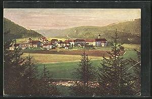 Ansichtskarte Beuron, Totalansicht mit dem Kloster vom