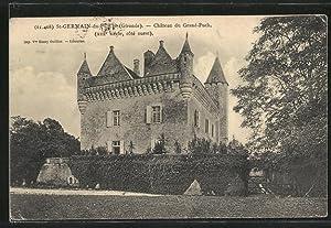 Carte postale St-Germain-du-Puch, Château du Grand-Puch