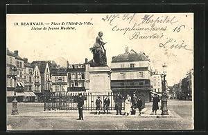Carte postale Beauvais, Place de l'Hôtel-de-Ville, Statue