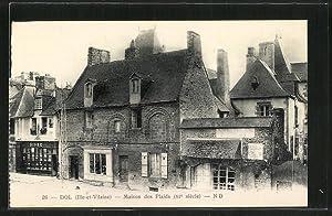 Carte postale Dol-de-Bretagne, Maison des Plaids
