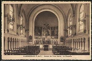 Carte postale Wardrecques, Maison de l'Ave Maria