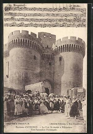 Carte postale Villeneuve-les-Avignon, Le Fort St-André, Une