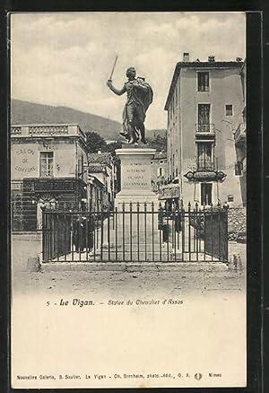 Carte postale Le Vigan, Statue du Chevalier