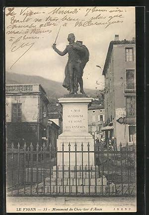 Carte postale Le Vigan, Monument du Chevalier