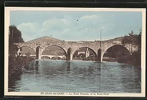 Carte postale St-Jean-du Gard, Le Pont Romain