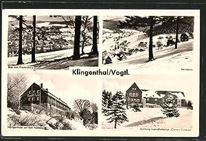 Ansichtskarte Klingenthal, Steindöbra, HO-Sporthotel auf dem Aschberg