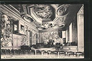 Carte postale Rennes, Palais de Justice, Salle