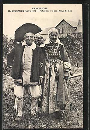 Carte postale Guerande, Paludiers du bon Vieux