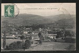 Carte postale Ste-Foy-l'Argentière, Vue générale avec montagnes