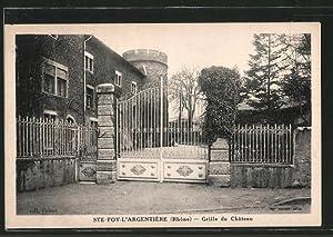 Carte postale Sainte-Foy-l'Argentière, la grille du château,