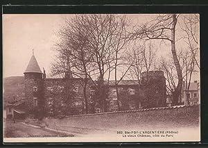 Carte postale Sainte-Foy-l'Argentière, le vieux château du