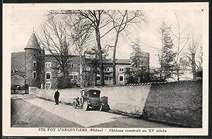 Carte postale Sainte-Foy-l'Argentière, le château construit au