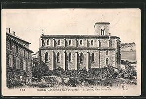 Carte postale Sainte-Catherine-sur-Riverie, l'Eglise, vue latérale