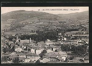 Carte postale Sainte-Foy-l'Argentière, vue générale prise en