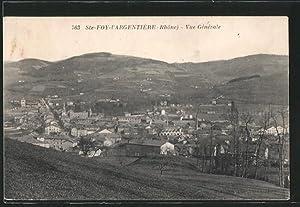 Carte postale Sainte-Foy-l'Argentière, vue générale avec les