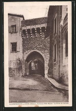 Carte postale Saint-Symphorien-sur-Coise, la porte de Riverie
