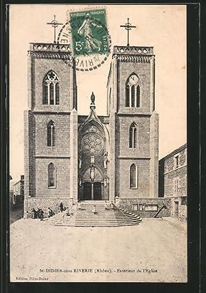 Carte postale Saint-Didier-sous-Riverie, vue frontale de l'Eglise,