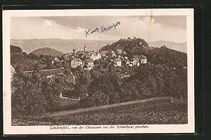 Ansichtskarte Lindenfels, Totalansicht mit Kirche von der
