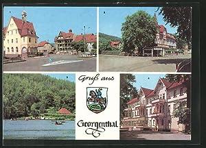 Ansichtskarte Georgenthal, FDGB-Heim Clara Zetkin u. Deutscher