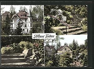 Ansichtskarte Bad Sachsa, Haus Tabea, Gartenaufgang, Garten