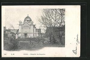 Carte postale Lyon, la chapelle des Capucins,