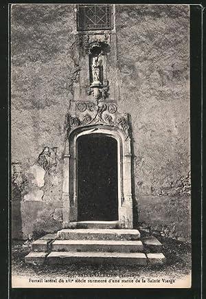 Carte postale Saint-Valérien, Portail latéral du XVIe