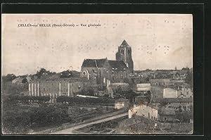 Ansichtskarte Celles-sur-Belle, Vue generale, in Blindenschrift