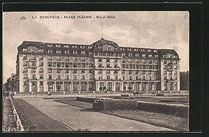 Ansichtskarte Deauville-Plage Fleurie, Royal-Hotel, in Blindenschrift