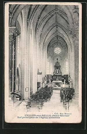 Ansichtskarte Celles-sur-Belle, Nef principale de l'Eglise abbatiale,