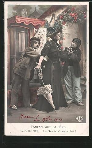 Ansichtskarte Operette Fanfan la Tulipe, Fanfan Vole