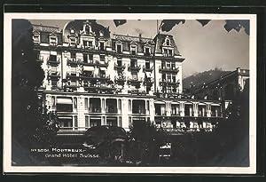 Ansichtskarte Montreux, Grand Hotel Suisse, Frontalansicht