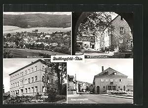 Ansichtskarte Stadtlengsfeld, Gesamtansicht, Oberschule, Felda-Lichtspiele