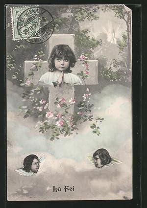 Ansichtskarte La Foi, Bildnis eines Kindes im