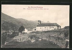 Carte postale Sère, l'Eglise, vue d'ensemble avec