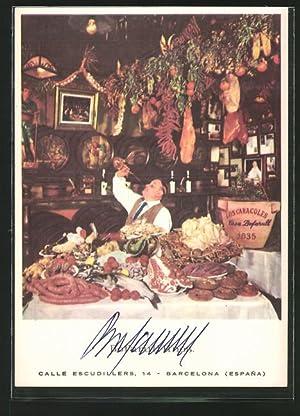 Postal Barcelona, Restaurante Los Caracoles, Calle Escudillers