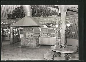 Ansichtskarte Sosa, Inneres der Konsum-Gaststätte Meiler