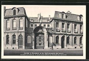 Carte postale Paris, la Caisse d'épargne et