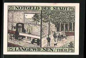 Notgeld Langewiesen in Thüringen 1921, 25 Pfennig,