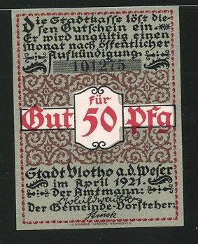 Notgeld Detmold (Lippe) 1920, 50 Pfennig, alter