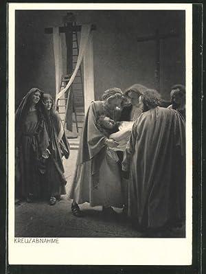 Ansichtskarte Oberammergau, Jubiläums-Passionsspiele 1934, Kreuzabnahme
