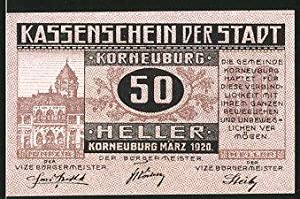 Notgeld Korneuburg 1920, 50 Heller, Kirchenmotiv